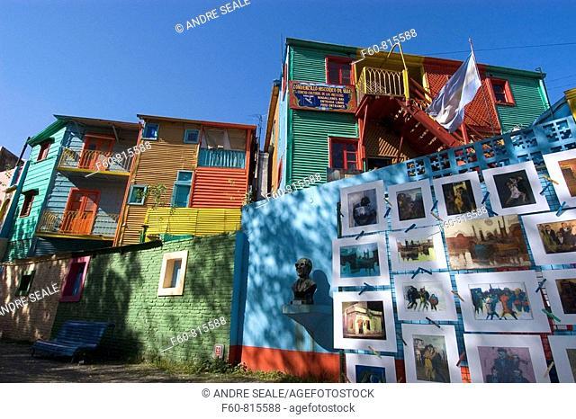 El Caminito, famous tourist spot in Buenos Aires, Argentina
