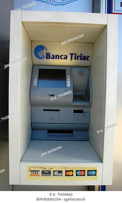 Bucuresti, Banca Tiriac, cash machine, Romania, Bucharest / Bucuresti