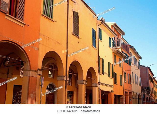 Italian Houses in Bologna, Italy