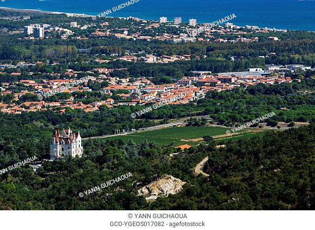The Valmy castle at Argeles sur Mer, Pyrenees Orientales, France