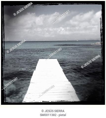 Formentera Ses Illetes beach pier Illetas