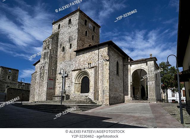Iglesia de Santa María del Conceyu in Llanes, Asturias, Spain
