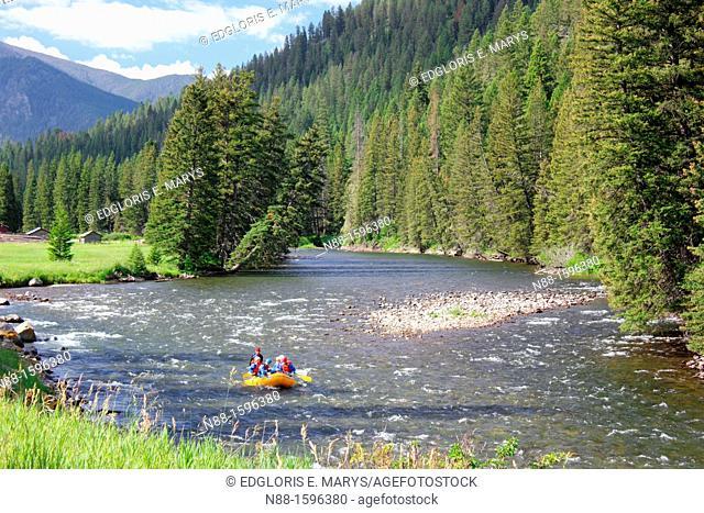 Rafting in Gallantin River, Montana, USA