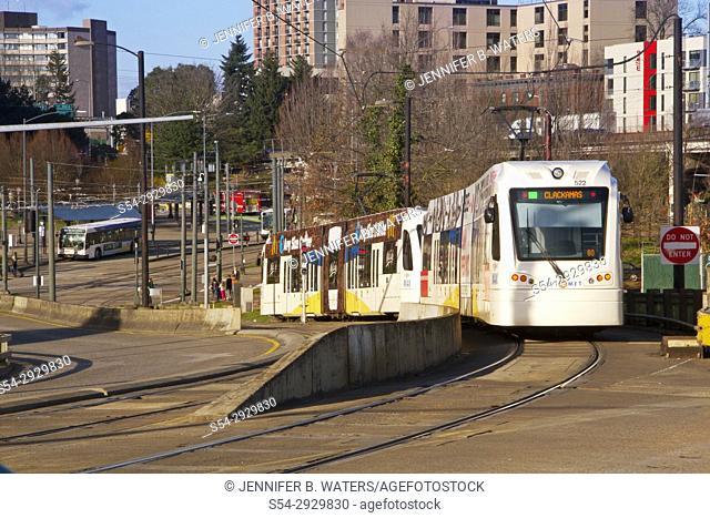 Portland, Oregon light rail downtown