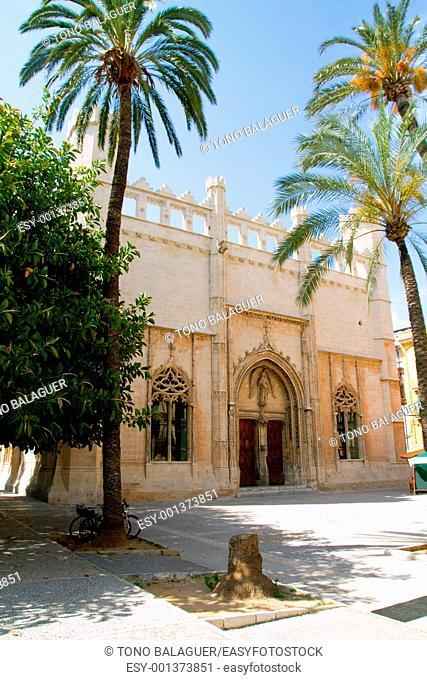 La Lonja monument in Palma de Mallorca from Majorca island in Balearic Spain