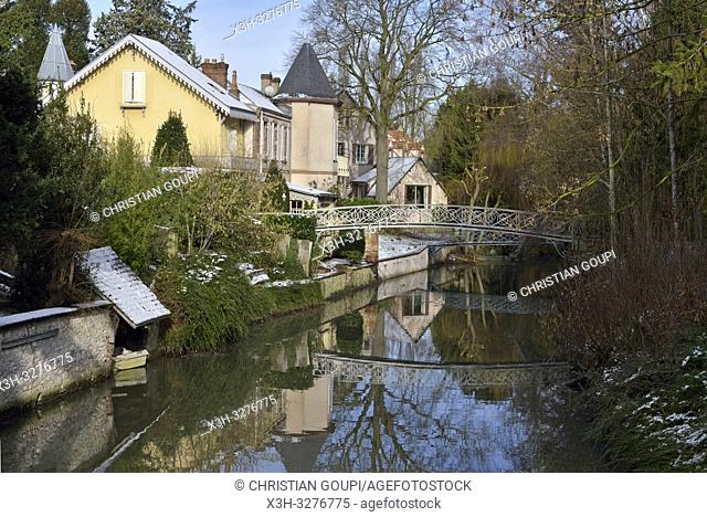 bords de la riviere Eure, Chartres, departement d'Eure-et-Loir, region Centre-Val de Loire, France, Europe/Eure River banks, Eure-et-Loir department
