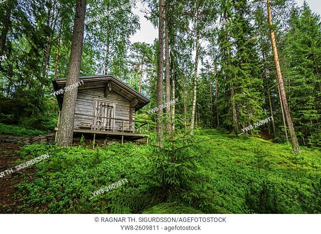 Cabin in the forest, Hogland Island, Finland