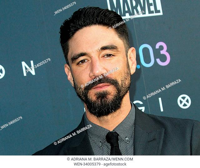 FX's 'Legion' Season Two Premiere held at the DGA Theatre in Los Angeles, California. Featuring: Clayton Cardenas Where: Los Angeles, California