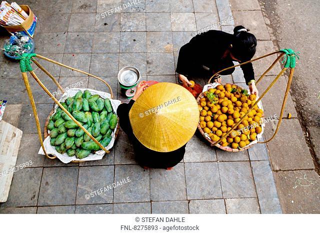 Typical Street Seller in Hanoi, Vietnam
