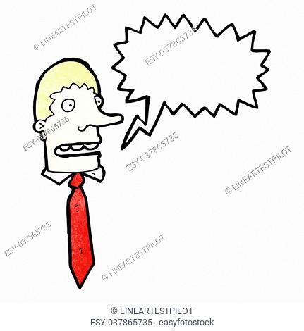 shouting boss cartoon