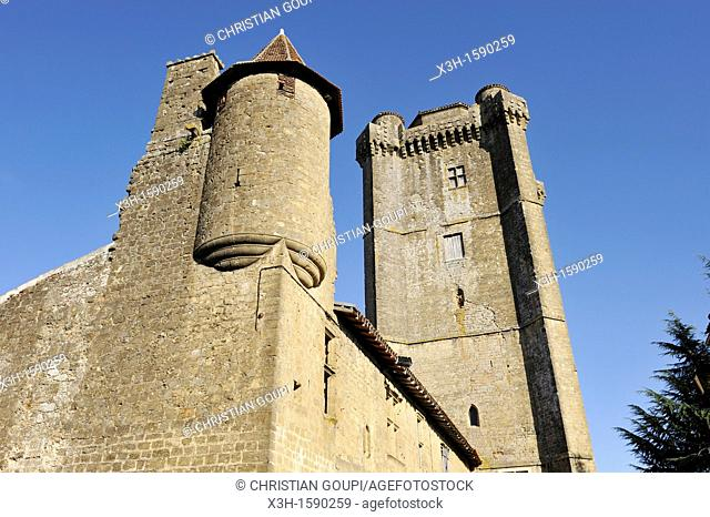 tower, Bassoues Gers department, Midi-Pyrenees, southwest of France, Europe
