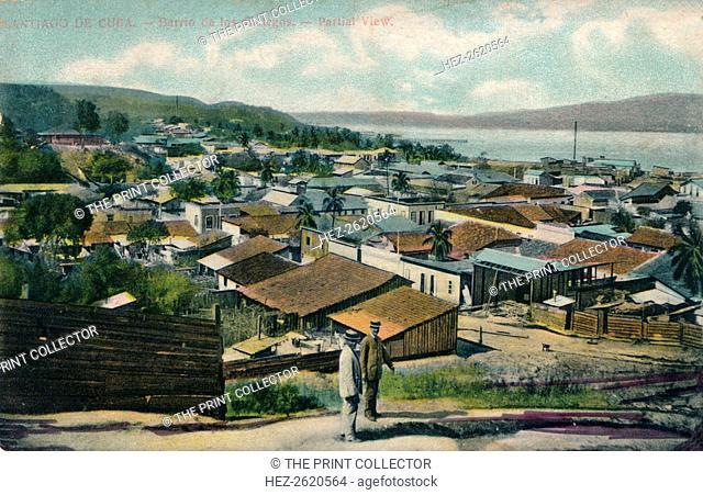 Santiago De Cuba. - Barrio de los Gailegos. - Partial View, c1910. Artist: Unknown