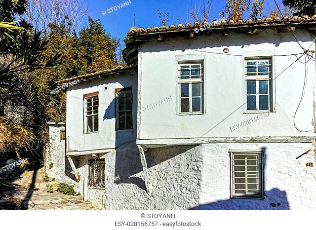 Old house and street from ottoman period in Xanthi, East Macedonia and Thrace, Greece