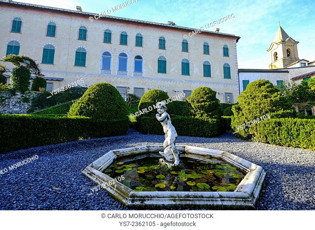 The gardens of Cervara Abbey, Santa Margherita Ligure, Genova, Liguria, Italia