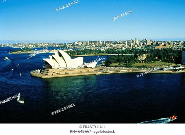 Sydney Opera House and harbour, Sydney, New South Wales, Australia, Pacific