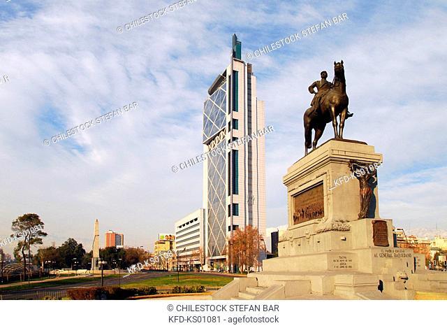 Chile, Santiago, Monument to General Baquedano, Baquedano Square, Providencia