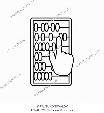 Abacus Icon. Thin line design. Vector illustration