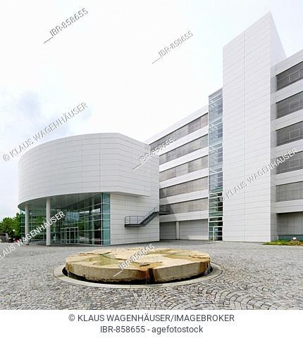 Allianz-Versicherung insurance company building designed by the architects Woehr/Mieslinger, Munich-Neuperlach, Munich, Bavaria, Germany, Europe