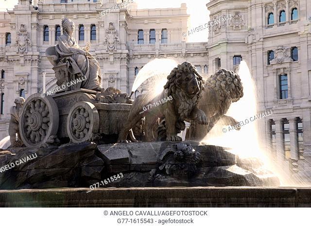 Cibeles Fountain, Plaza de Cibeles square, Madrid, Spain