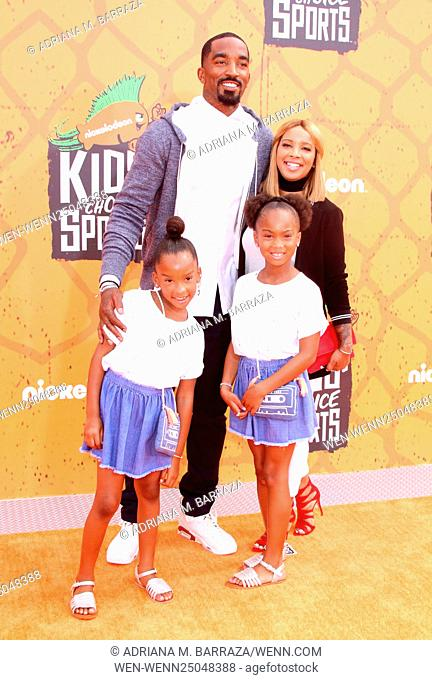 Nickelodeon's Kids's Choice Sports 2016 held at UCLA's Pauley Pavilion Featuring: J.R. Smith, family Where: Los Angeles, California