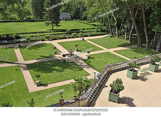 """""""""""""""""""""""Les Jardins du Roy"""""""", Domaine royal de Chateau-Gaillard a Amboise, Touraine, departement Indre-et-Loire, region Centre-Val de Loire, France"""
