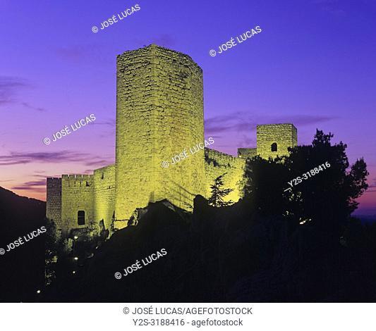 Castle of Santa Catalina (13th century) at dusk, Jaen, Region of Andalusia, Spain, Europe