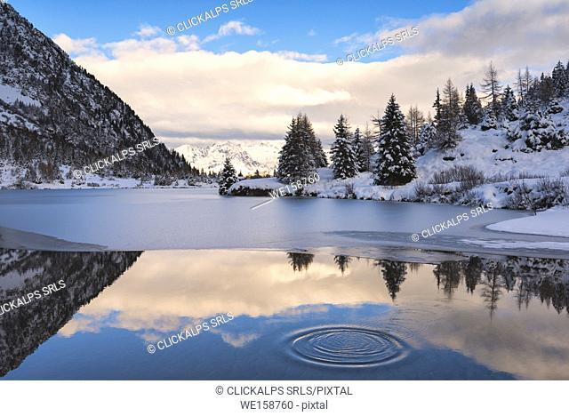 Aviolo lake, Vezza d'Oglio, Brescia province, Lombardy, Italy