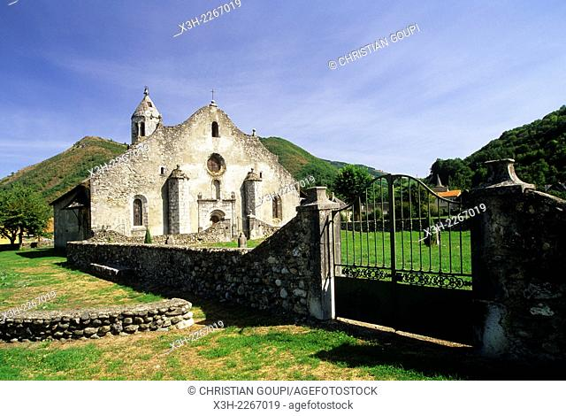 Romanesque church of Our Lady in Luzenac 12th century, province of Couserans, Ariege department, Midi-Pyrenees region, France, Europe