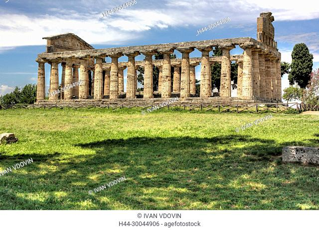 Temple of Hera (550 BC), Paestum, Campania, Italy