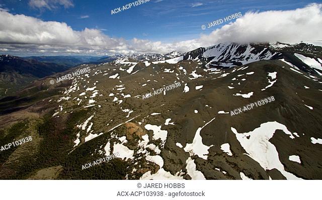 aerial scenic view of Chilcotin mountain range, British Columbia, Canada