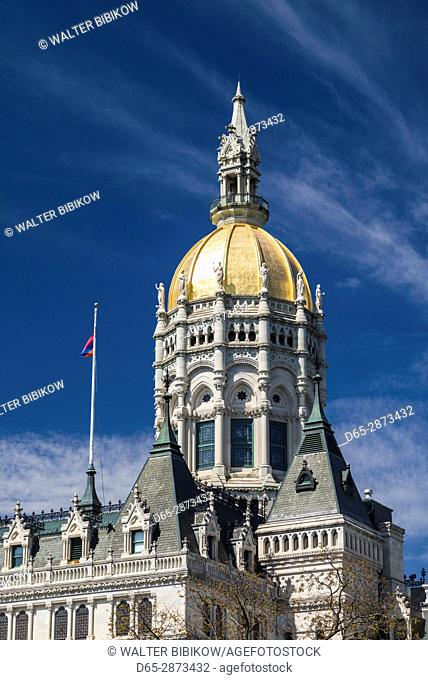 USA, Connecticut, Hartford, Connecticut State Capitol, exterior