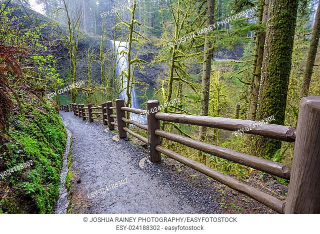 South Loop Trail, part of the Trail of Ten Falls at Silver Falls State Park in Oregon
