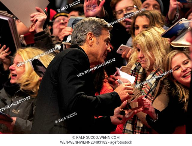 66th annual International Berlin Film Festival (Berlinale) - Hail, Caesar! - Premiere and Opening at Berlinale Palace Featuring: George Clooney Where: Berlin