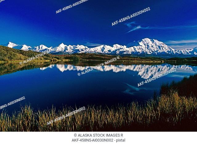 Mt McKinley Relfected in Wonder Lake Denali National Park Alaska Summer