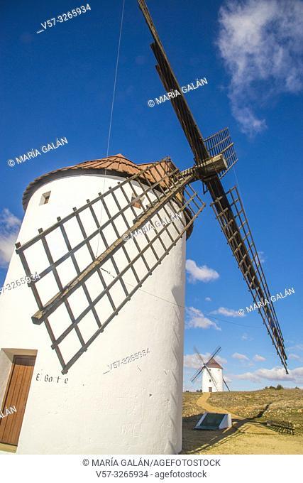 Windmills. Mota del Cuervo, Cuenca province, Castilla La Mancha, Spain