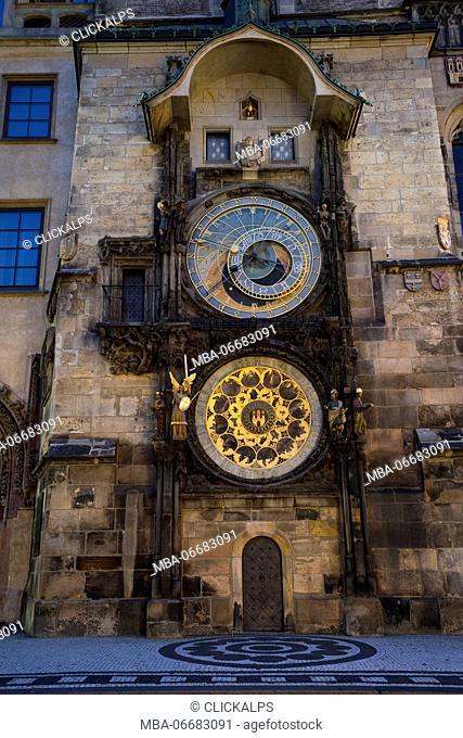 Prague, Czech Republic the famous Prague Astronomical Clock