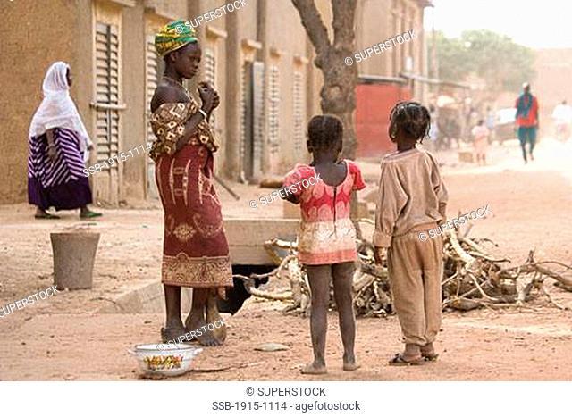 Children in Djenne Djenne Mali