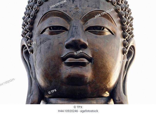 Asia, China, Hong Kong, Lantau, Buddha, Statue, Giant Buddha, Buddha, Buddhism, Buddhist, Buddha Face, Religion, Po Lin Monastery, Po Lin, Monastery, Statue