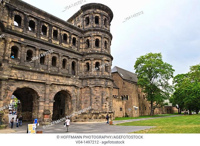 The historic Porta Nigra in Trier, Rhineland-Palatinate, Germany, Europe