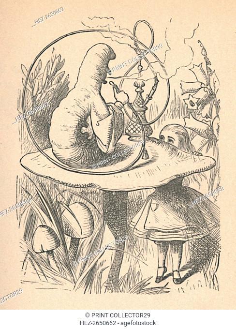 'Alice and the caterpillar', 1889. Artist: John Tenniel