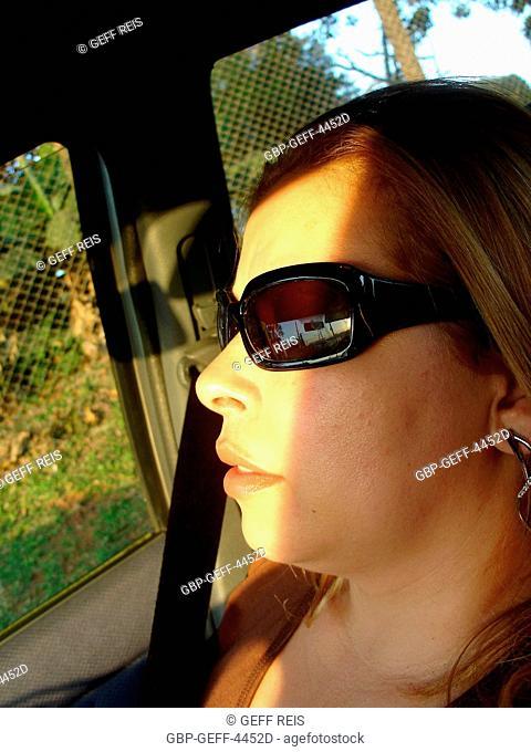 Woman of Dark Glasses, São Paulo, Brazil