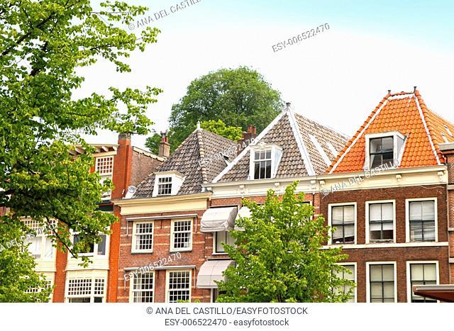 Leiden houses Holland The Netherlands