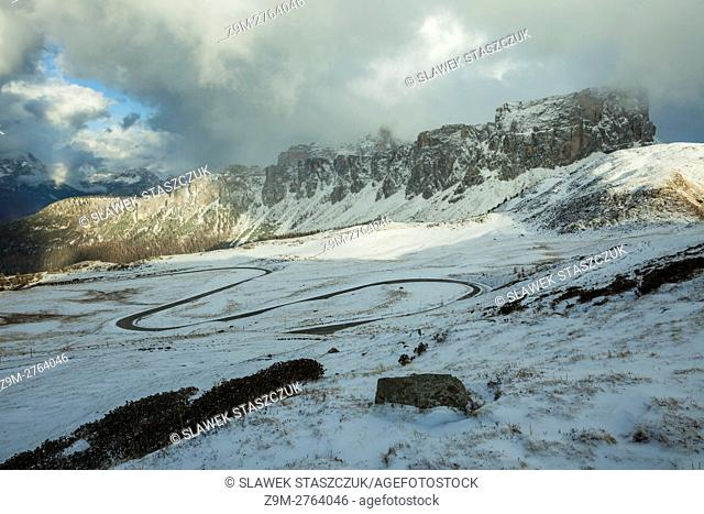 Passo Giau near Cortina d'Ampezzo, Belluno province, Veneto region, Italy. Dolomites