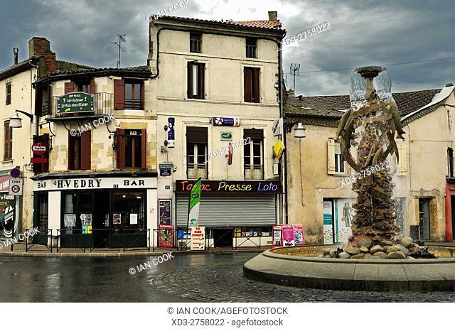 Place Soeur Madeleine, Bergerac, Dordogne Department, Aquitaine, France