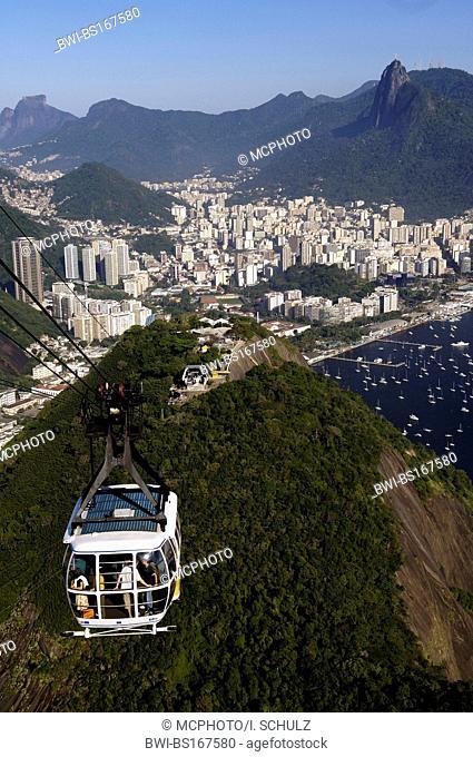 cable car to the Sugarloaf Mountain, Pao de Acucar, Brazil, Rio de Janeiro