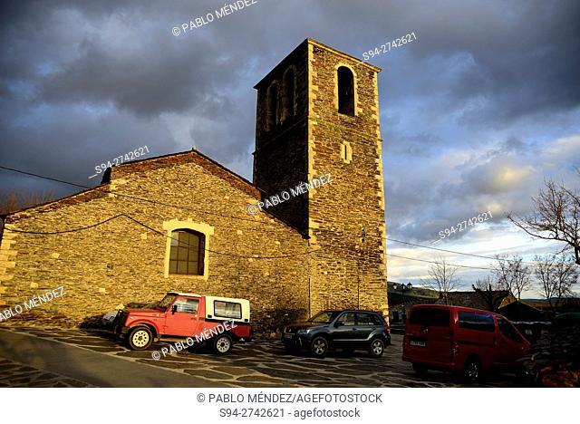 """Church of Our Lady White or """"""""Nuestra Señora la Blanca"""""""" in Campillo de Ranas, Guadalajara, Spain"""