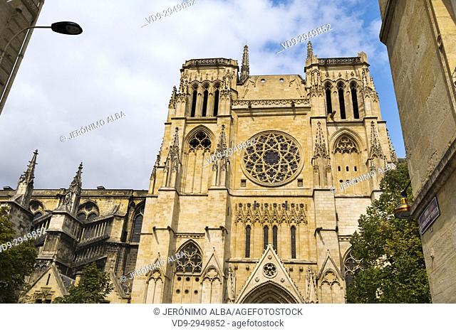 Saint André Cathedral, Bordeaux. Aquitaine Region, Gironde Department. France Europe