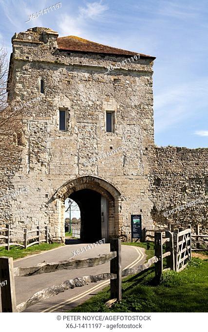 Land gate entrance to Portchester castle