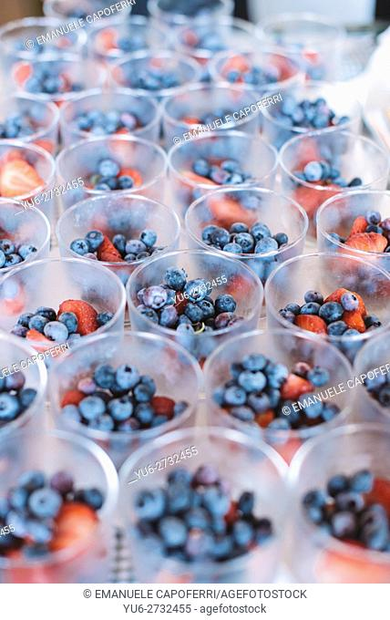 Glasses with berries