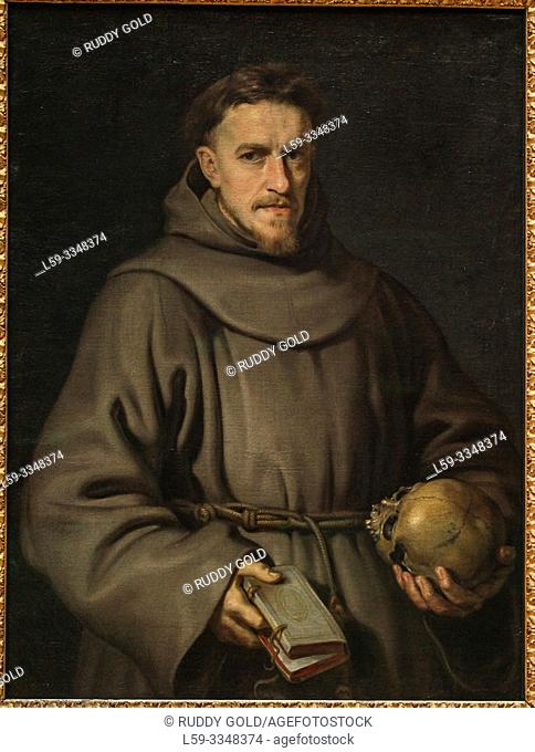 """Portrait of a Franciscan Friar"", 1615/16, by Peter Paul Rubens (1577-1640)"